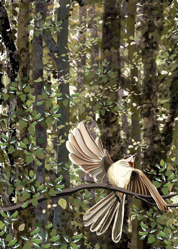 Piwakawaka by Starsong-Studio