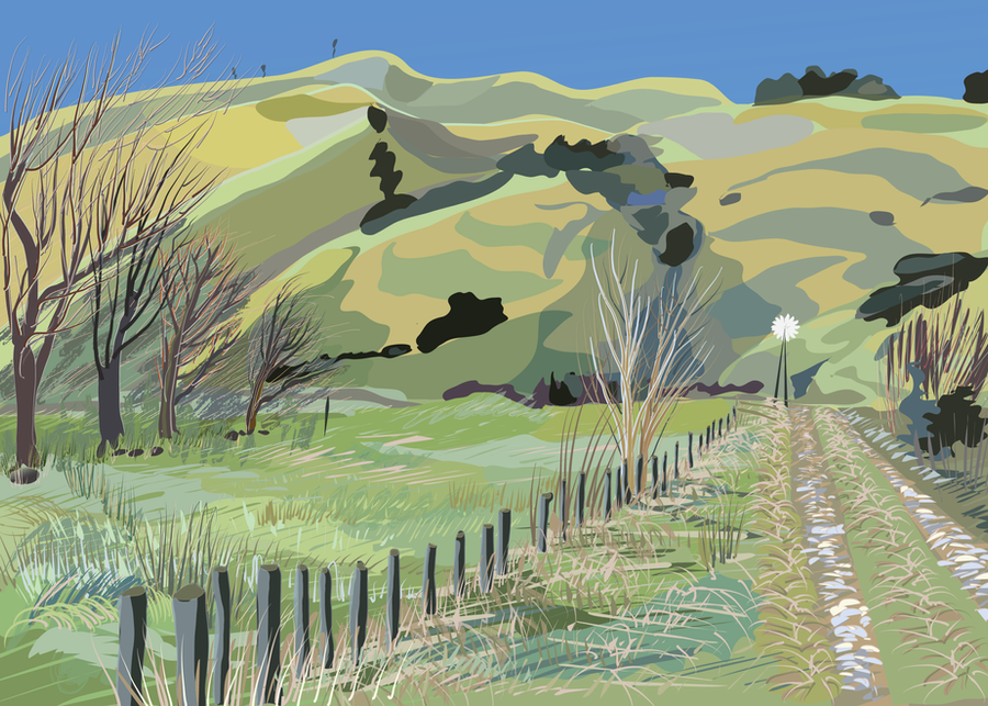 Wairarapa back roads 1 by Starsong-Studio