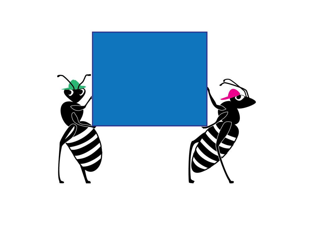 ants b/w 2 by Starsong-Studio