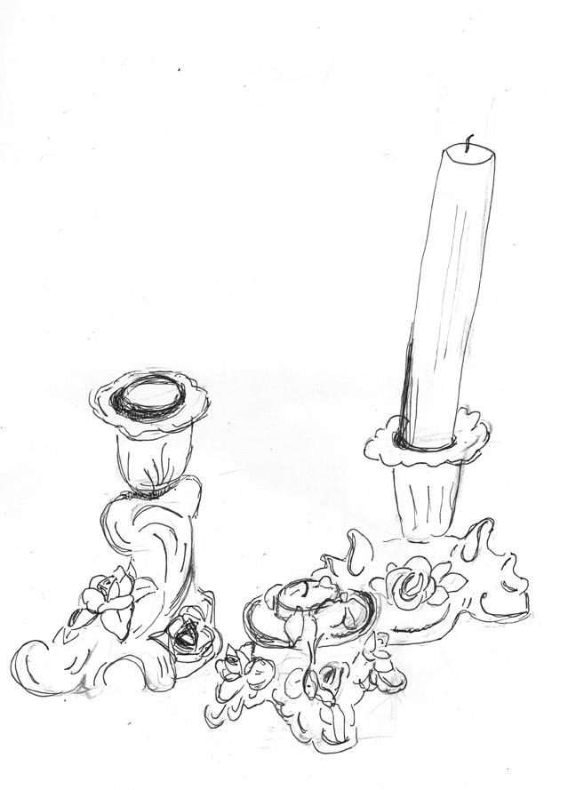 Dresden candlesticks