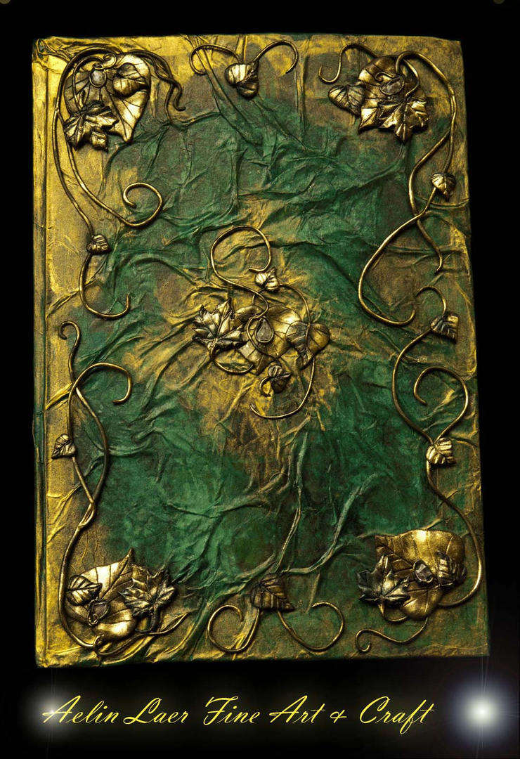 Golden forest elvish notebook by Gwillieth on DeviantArt