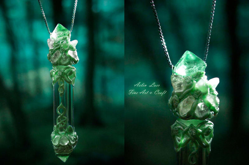 elvish vial necklace star songs of eternity by Gwillieth