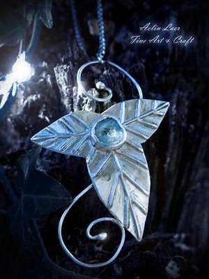 Mallorn Celebren silver pendant by Gwillieth