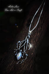 Moonlight Branches silver Talisman