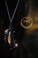 Embers of Autumn Silver Talisman with Labradorite by Gwillieth
