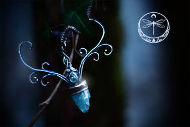 Water Stag Celtic Silver Talisman by Gwillieth