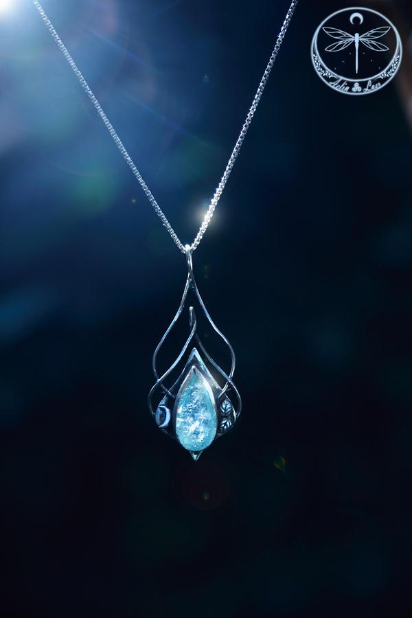 Sia Silver Talisman with Aquamarine