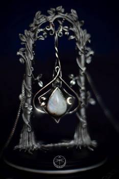 Midnight Gem Celtic Silver Talisman