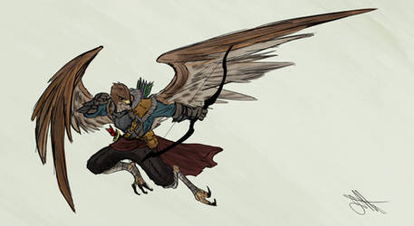 Commission: Aarakocra Archer