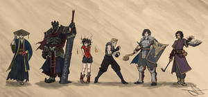 DnD Commission Full Party with DM