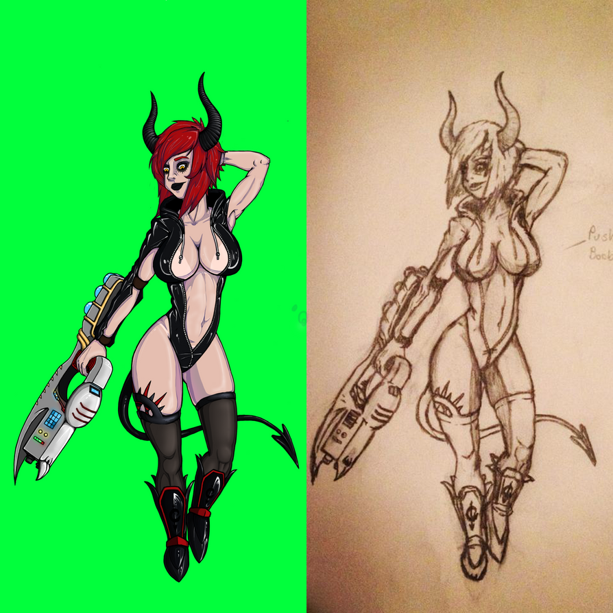 Sexy Gunner Girl Comparison by Acreium