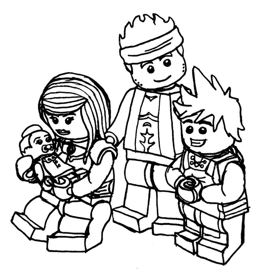 ninjago coloring pages kai 2015 exo | Kai and Family by skybard on DeviantArt