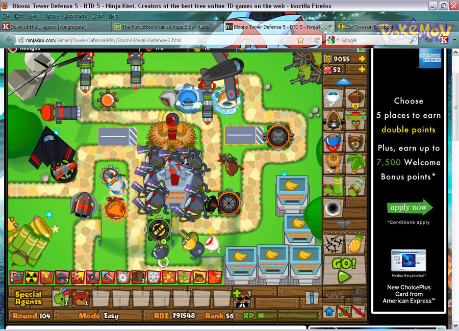 bloons tower defense 5 login