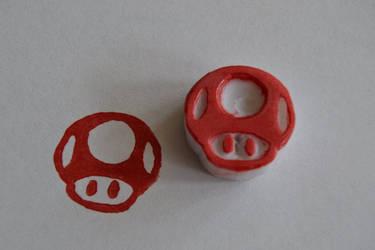 Mushroom rubberstamp by LauraNC