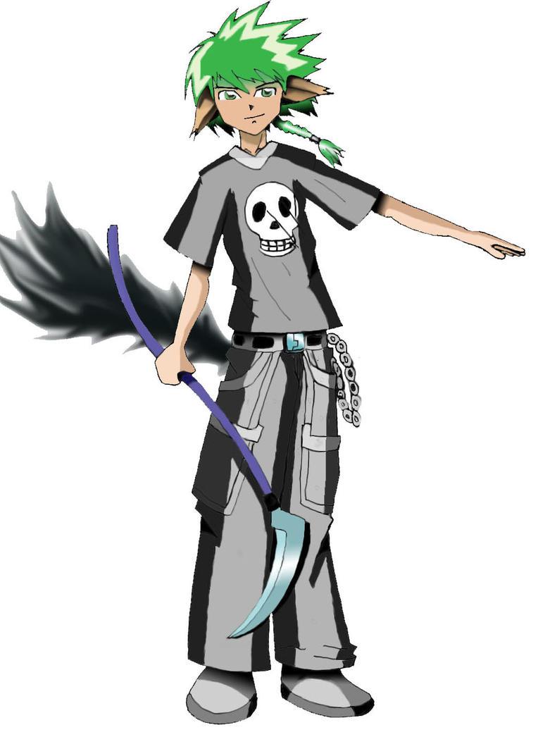Anime guy with scythe