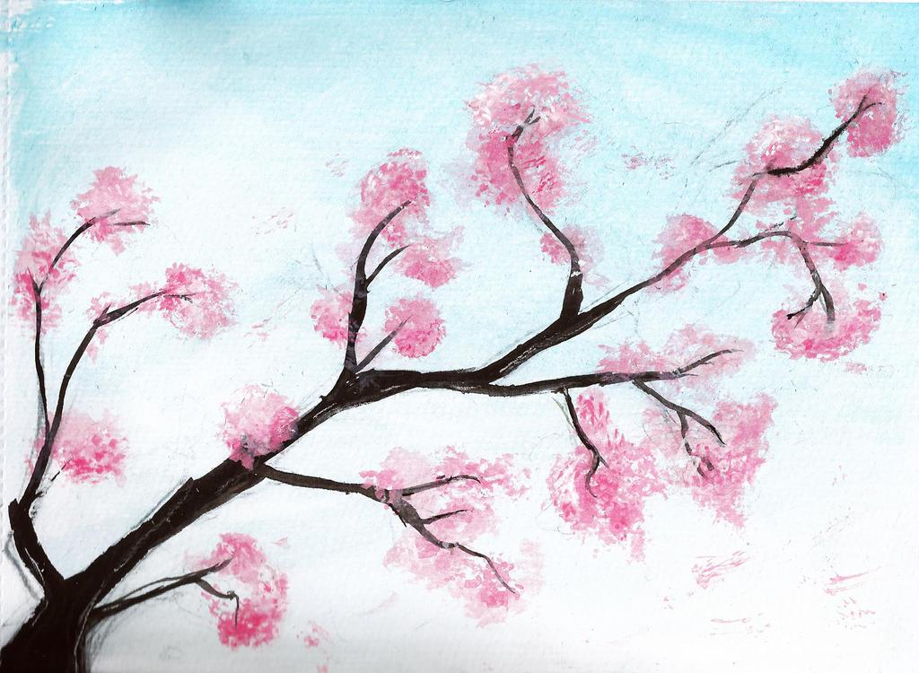 Japanese cherry blossom tree art car interior design for Cherry blossom mural works