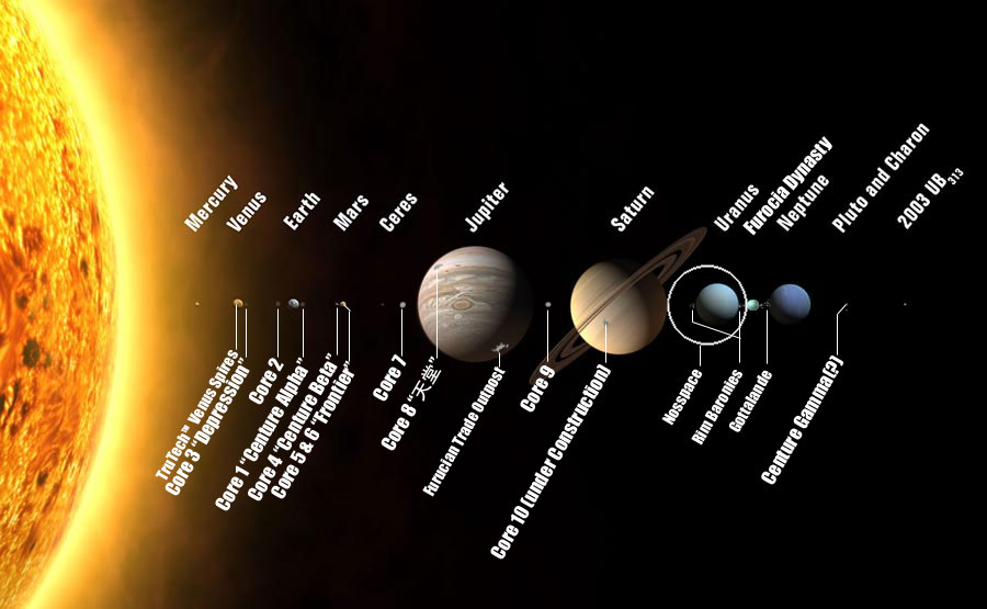 Images Of Solar System Map SpaceHero - Accurate map of the solar system