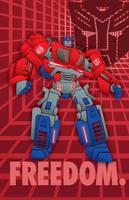 Freedom Fighter Optimus Prime by maXVolnutt