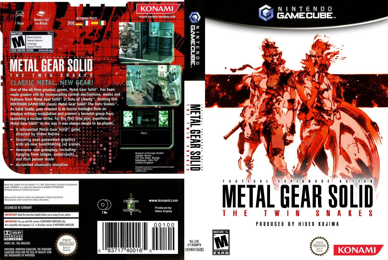 Custom Metal Gear The Twin Snakes Boxart By Maxvolnutt On