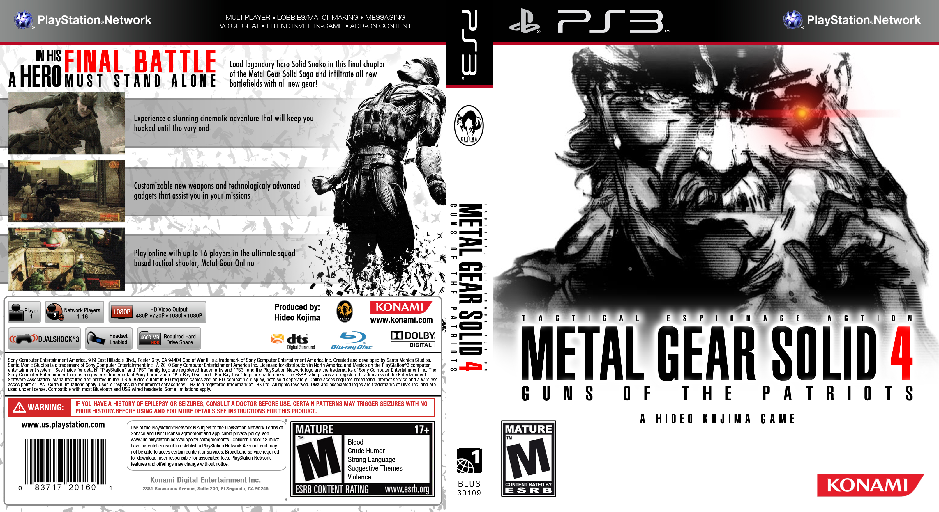 Custom Metal Gear Solid 4 boxart by maXVolnutt on DeviantArt