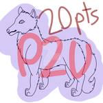 P2U Cartoon Wolf Base - CHEAP