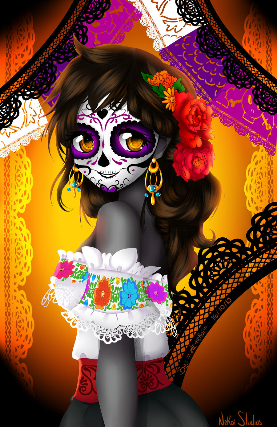 la catrina by alenekoi by alenekoi on deviantart. Black Bedroom Furniture Sets. Home Design Ideas