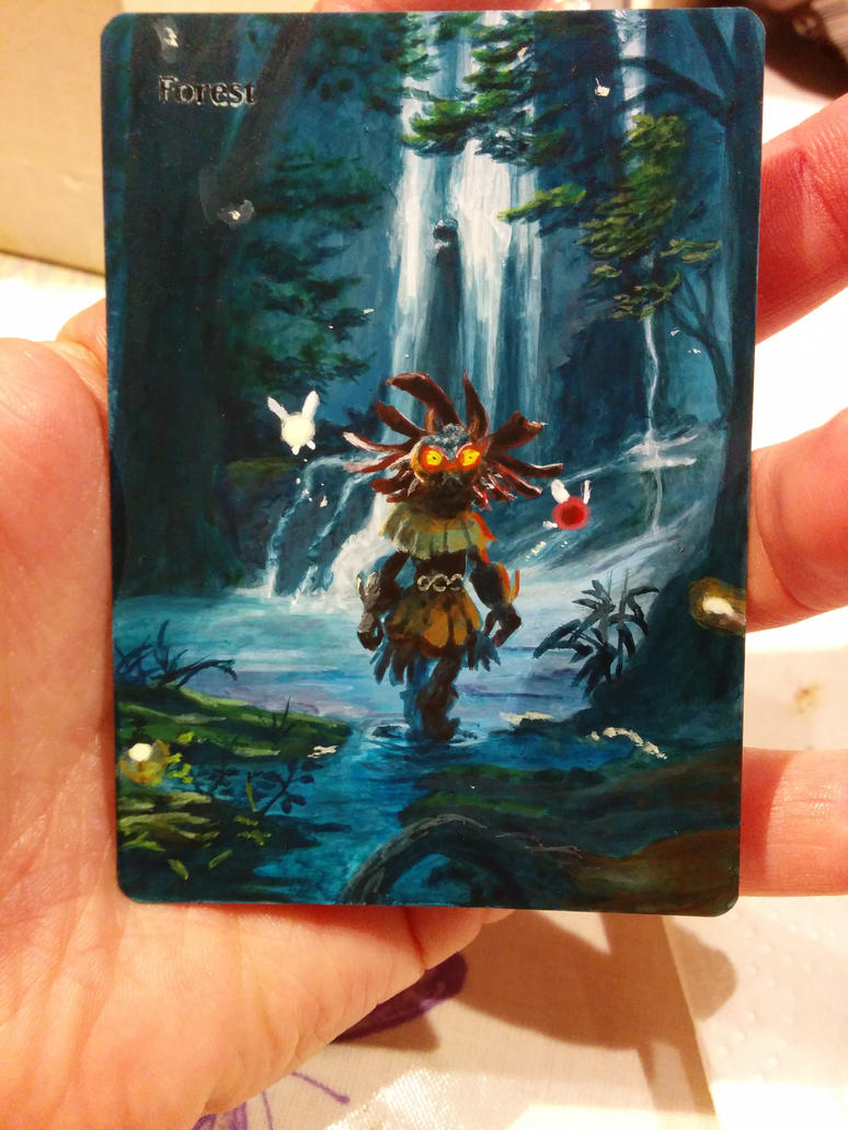 Majora's Mask Forest alter MTG by Rogue-chan