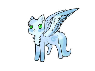 Egg Hatched -Winged Wolf(yes, its is a wolf)- by Tiny-Winy