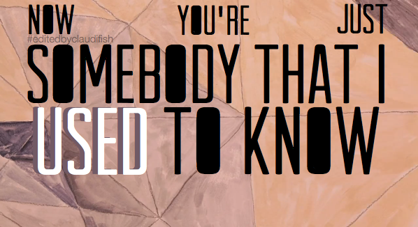 Meaning of Somebody That I Used to Know by Gotye featuring Kimbra
