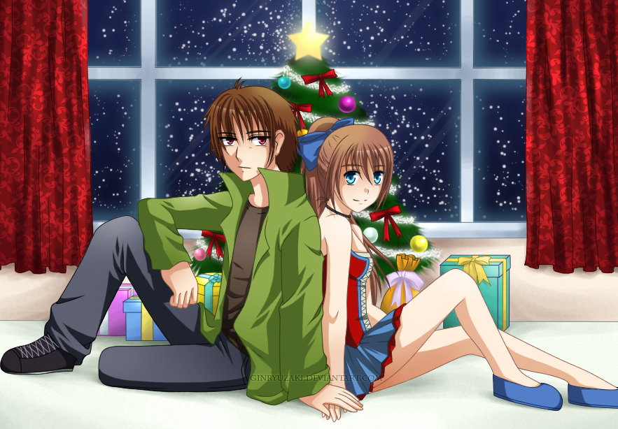 Christmas Anime Love Christmas Love by Ginryuzaki