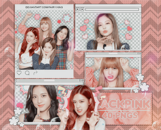 PNG PACK #913] BLACKPINK - (Line Stickers) by fairyixing on