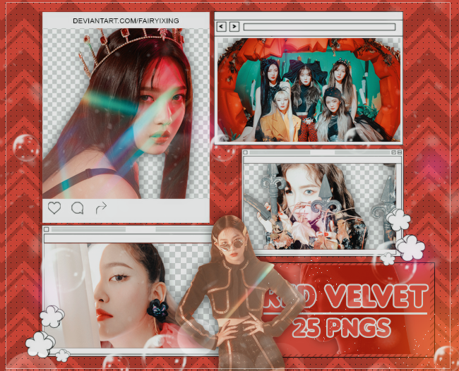 [PNG PACK #936] Red Velvet - (Really Bad Boy) by fairyixing