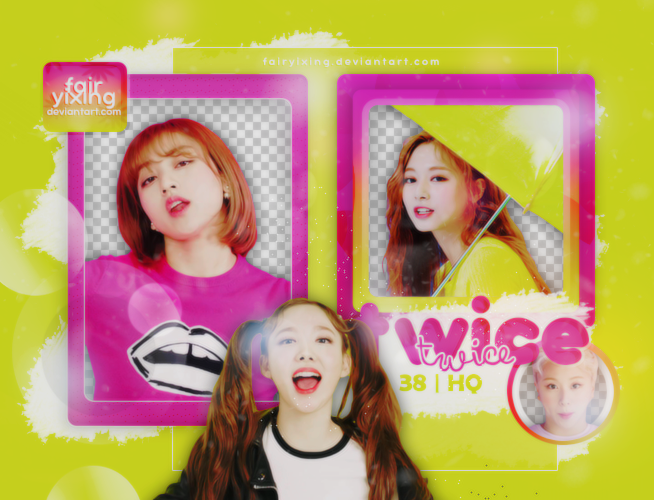 PNG PACK] TWICE - (HAPPY HAPPY - SCREENCAPS) by fairyixing