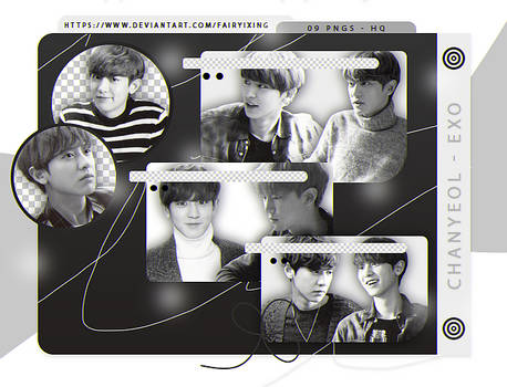 png pack  chanyeol   exo  line photocards  by fairyixing ddsqmy3