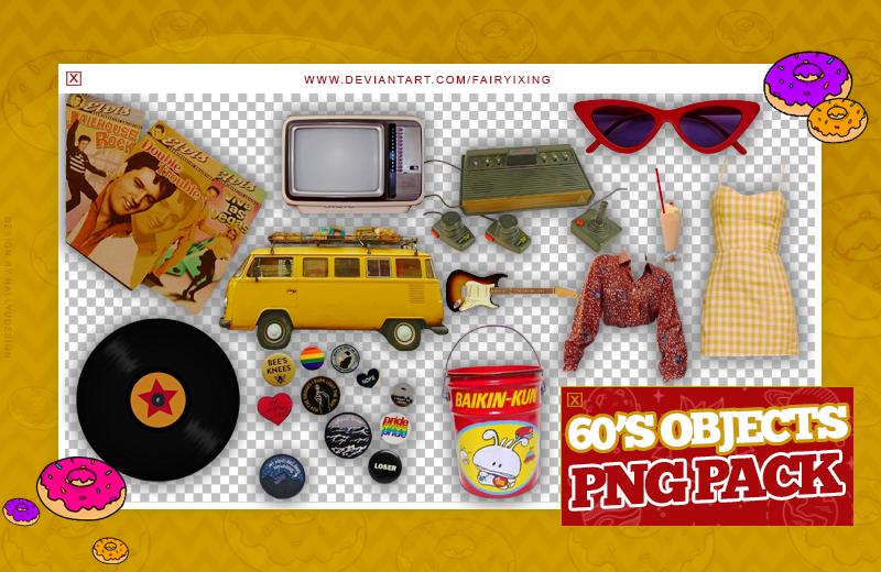 Png Pack 60 S Objects By Fairyixing On Deviantart
