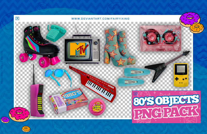 Png Pack 80 S Objects By Fairyixing On Deviantart
