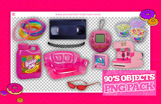 [PNG PACK] 90'S OBJECTS