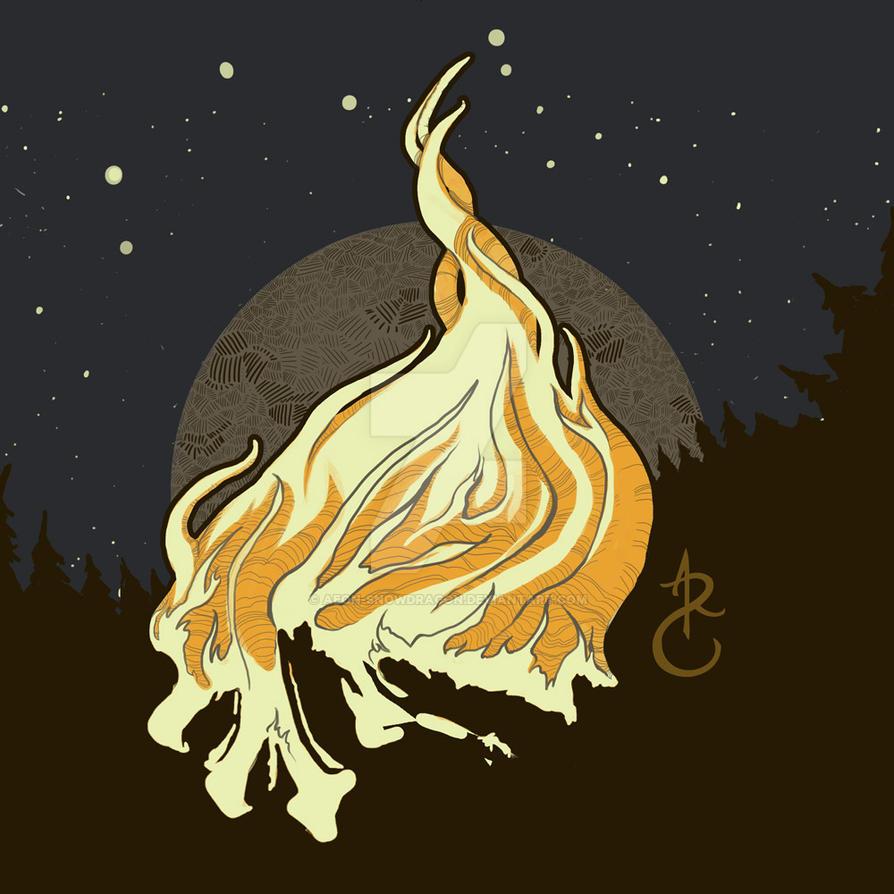 Evening Fireskull by aeon-snowdragon