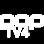 POPTV4 Logo White