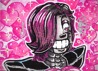 happy little robot aceo by mitani-chan