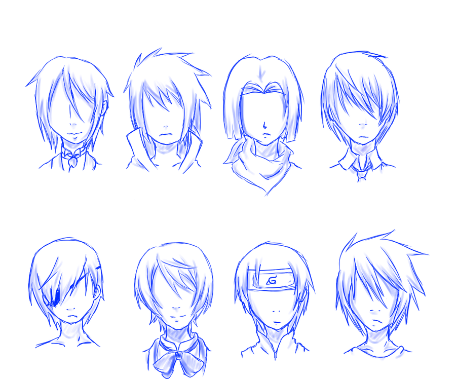 Me Practicing Male Hairstyles Owo By Septemberice On