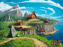 Viking's Village by FieryStork