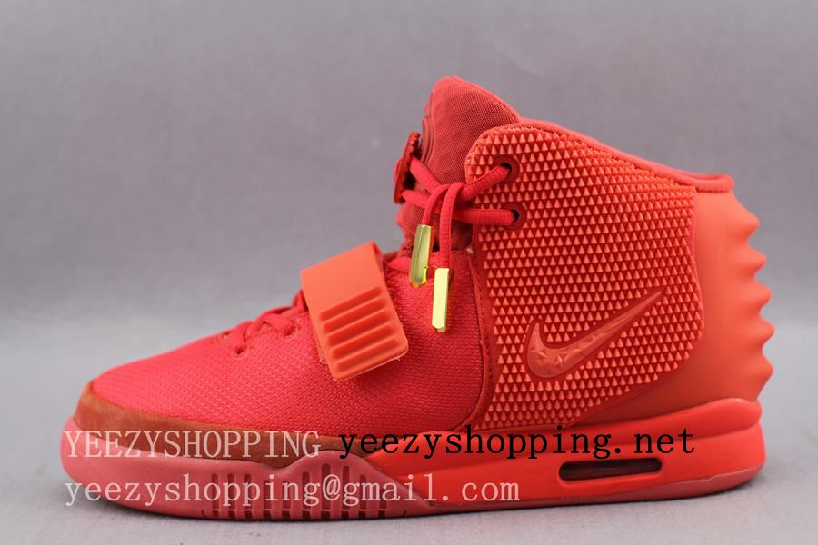 nike air yeezy 2 sp red october on ebay at 15000; super perfect air yeezy 2  red october replica glow by yaochuntianmail