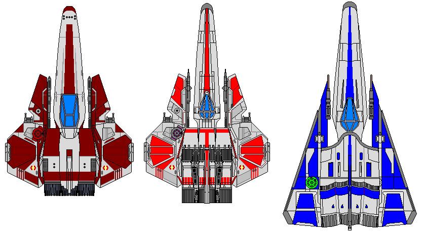 BattleStar-Wars fighters by kavinveldar
