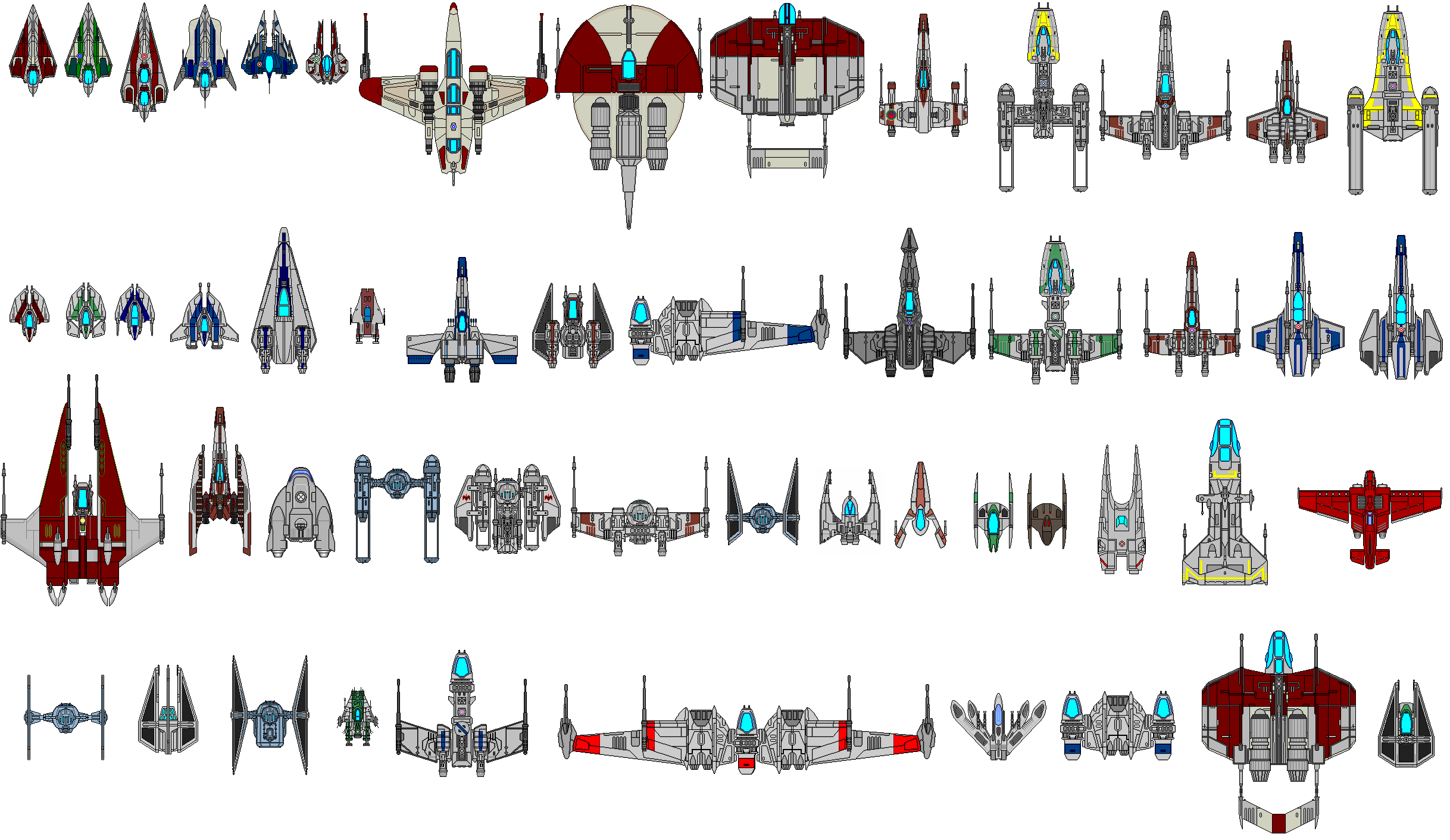 Souvent Star Wars starfighters by kavinveldar on DeviantArt QV66