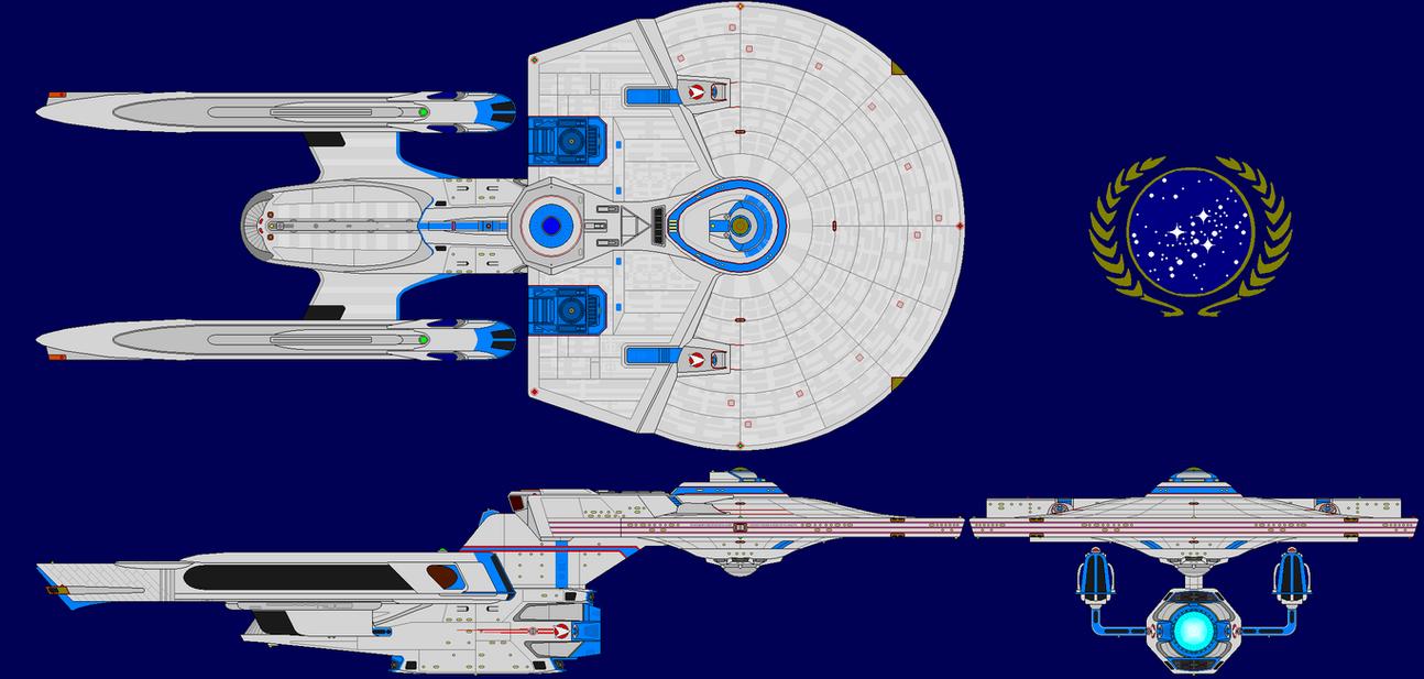 Starbase54s Starship design by kavinveldar