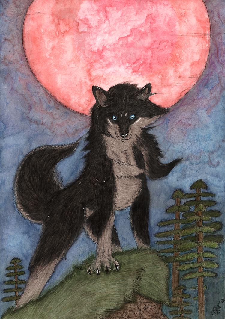 Red Moon by RedWolfAkasora