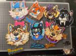 Toony style badges from week 1 by RedWolfAkasora