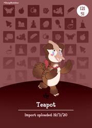 {YCH} AC Amiibo Card - Teapot