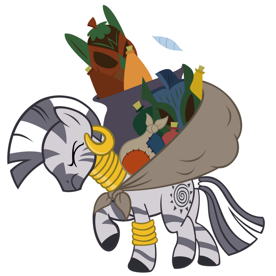 zecora_carrying_stuff_by_sofunnyguy-d6wu